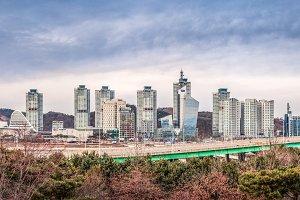 Daejeon city skyline view, South Korea