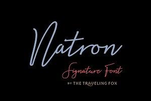 Natron - Monoline Signature Font