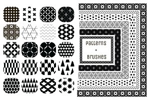 20 Patterns + 6 Pattern Brushes