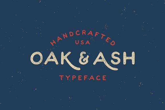 Oak & Ash - Hand Drawn Font