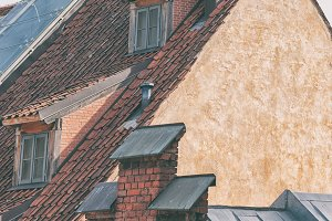 Tiled roof of Old Riga