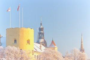 Presidential Palace in Riga in winter