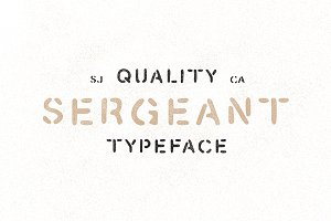 Sergeant - Hand Drawn Stencil Font
