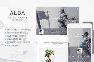 Alba - Personal WordPress Blog Theme