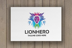 Lion Hero Logo