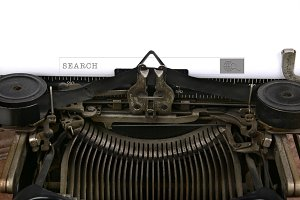 Typewriter With Search Box