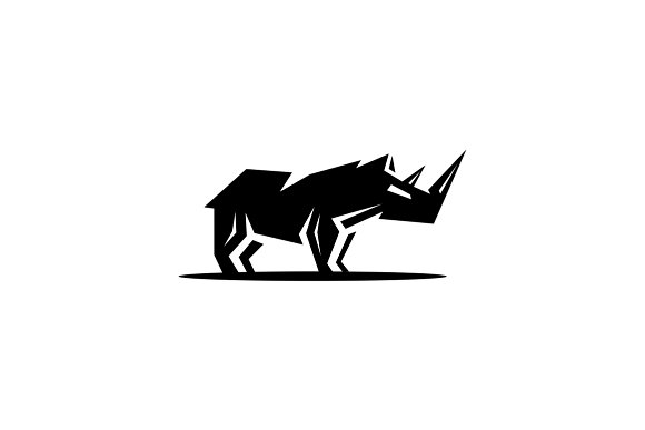 rhino logo template logo templates creative market