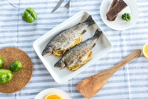 Baked trout with citrus
