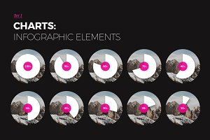 Charts sets - Infographic elements