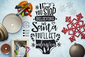 Believe in Santa Cut File