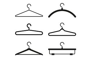 Clothes Hanger Icons Set