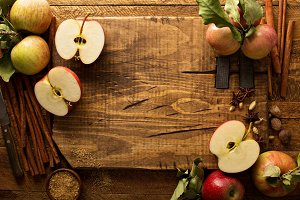 Cooking and baking with apples