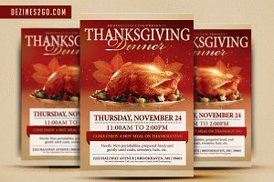 Thankgiving Day Flyer Template