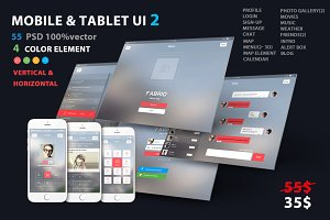 Mobile and Tablet UX UI kit 2