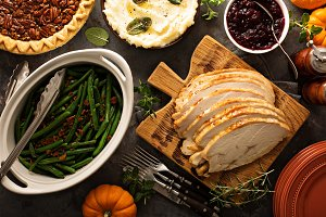 Sliced roasted tukey breast for Thanksgiving or Christmas