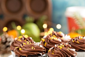 Chocolate orange cupcakes for Christmas