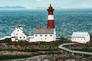 Tranoy Lighthouse Norway Landscape