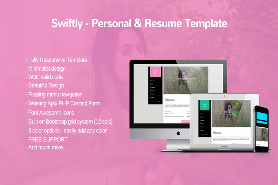 Swiftly - Personal and Resume Templa