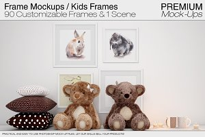 Kids Room Frames & Wall Mockup