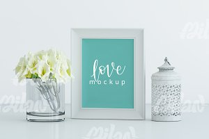 MockUp - Frame Floral, Wedding