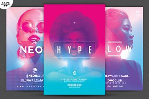 3in1 NEON WOMEN Flyer Bundle