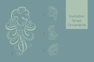 Invitation Script Ornaments Pack