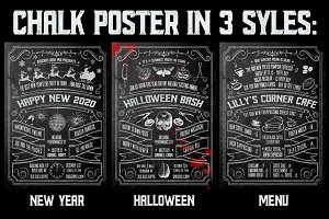 Chalk Poster in 3 Styles