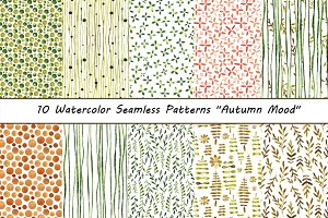 Seamless Patterns Autumn Mood