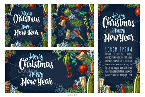 New Year Merry Christmas set