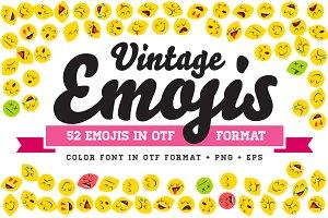 Vintage Emojis OTF Color Font