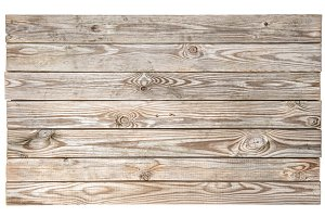 rustic wooden desk isolated on white