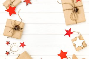 Christmas decoration red stars