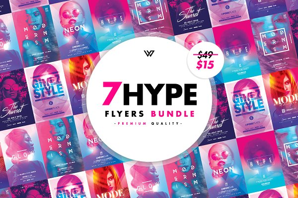 Flyer Templates: WG VISUALARTS - 7 HYPE FEMININE Flyer Bundle