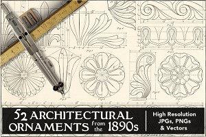 52 Vintage Architectural Ornaments