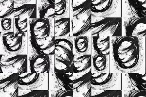 Black white brushstrokes