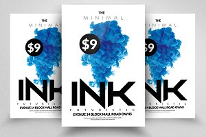 Ink Futuristic Flyers