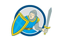 Medieval Knight Shield Sword Circle