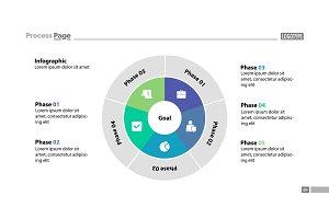 Five Circle Sectors Slide Template