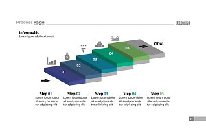 Five Steps Workflow Slide Template