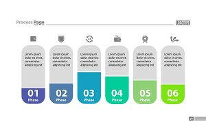 Six Stages Workflow Slide Template