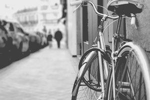 Bike in a black and white