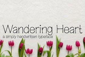 Wandering Heart- Handwritten Font