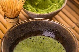 Powdered green tea, matcha