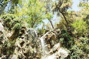 beautiful view on  waterfall