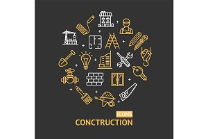 Building Construction Line Icon