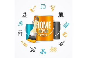 Home Repair Concept Construction