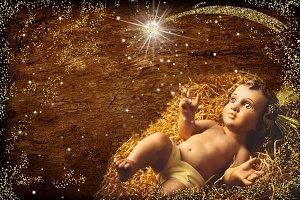 Baby Jesus vintage figurine, xmas .