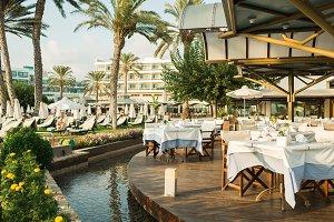 Resort on mediterranean sea