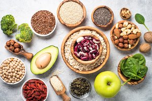 Superfoods - nuts, beans, greens and seeds.