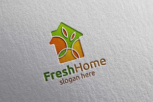 Fresh Home Logo, Real estate Logo